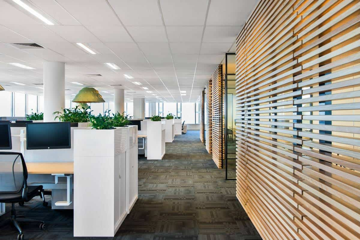 Perspective shot of office environment - Richard Crookes Construction