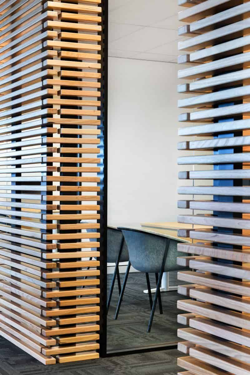 Richard Crookes Construction - Slotted wooden walls