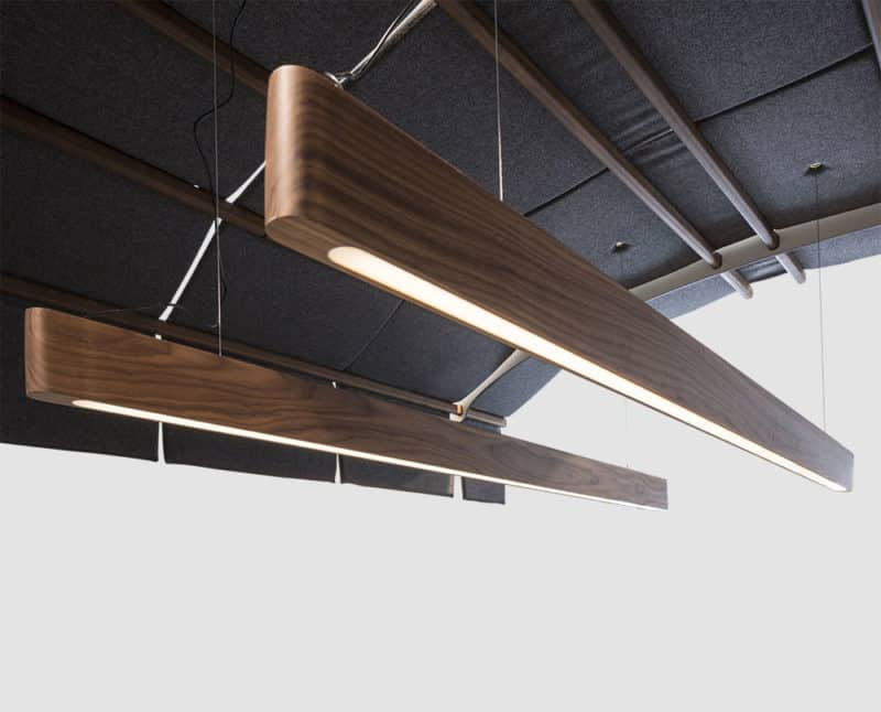 Forbi lights suspended from Airer hood